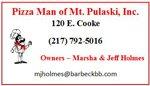 Pizza Man of Mt. Pulaski, Inc.