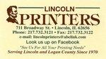 Lincoln Printers