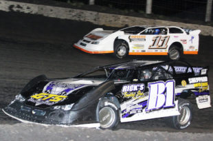 Nick Bauman In Pro Late Model Action At Lincoln